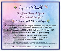 Next online course Febr + Mar the many faces by Spirit by Lynn Cottrell